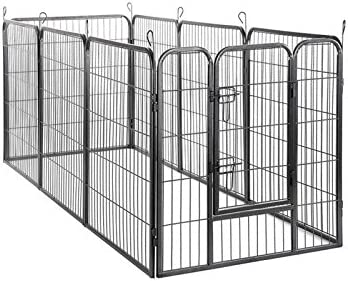 BestPet Heavy Duty Pet Playpen Dog Cat Fence B Exercise Pen, 40 H x 31 W 40-Inch