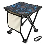 Mini Portable Folding Stool,Folding Camping Stool,Portable Folding Chair,Slacker Chair,Outdoor Folding Stool,Small Folding Stool,Compact Camping Stool with Carry Bag for Fishing,Travel,Hiking,Garden