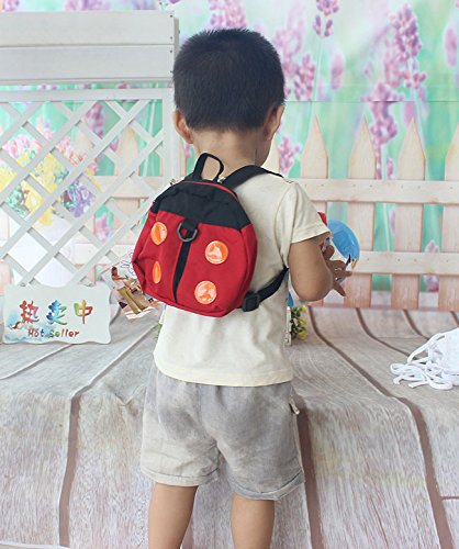 Westeng Anti-Lost Backpack Kids Toddler Walking Safety Harness School Bag Cartoon Pattern with Removable Padded Strap