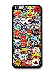 """AMAF ? Accessories Beer Caps Collage Collection Stickerbomb case for iPhone 6 Plus (5.5"""")"""