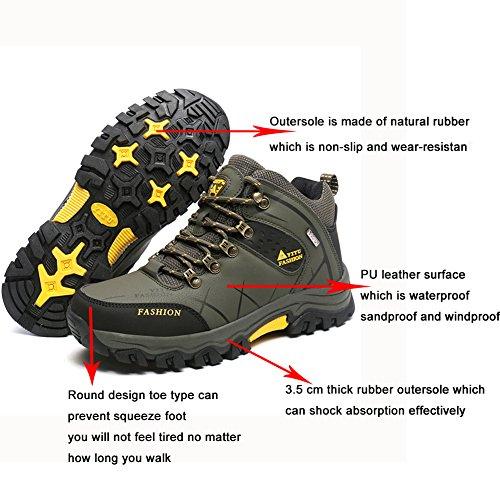 Eagsouni Pour Bottes Top Homme Sports Trekking High Outdoor Basses Chaussures De Randonnée Imperméable Vert rxUrz1q