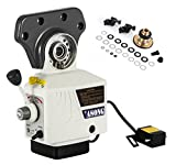 BestEquip Power Feed X-Axis 150 LBS Torques X Traverse Feeder 4-180 RPM Power Table Feed for Bridgeport Type Milling Machines (Torque 150LBS X-Axis)