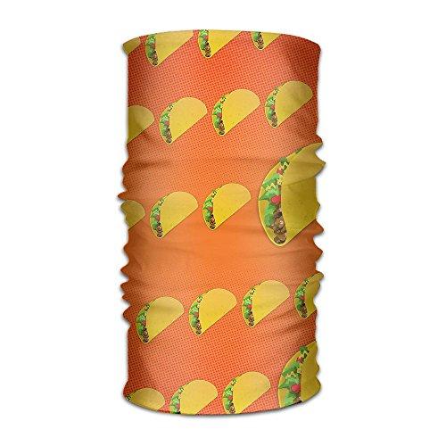 Owen Pullman Multifunctional Headwear Nice Delicious Taco Head Wrap Elastic Turban Sport Headband Outdoor Sweatband