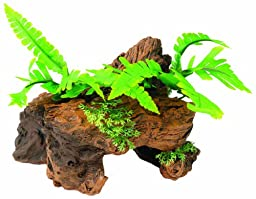Marina Naturals Malaysian Driftwood with Plants, Small