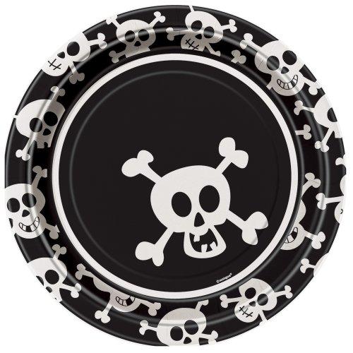 Unique 98005 Skulls Dinner Plates
