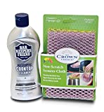ceramic cooktop cleaning kit - BAR KEEPERS FRIEND Cooktop Cleaner Kit. Liquid (13 OZ) and Non Scratch Scouring Dishcloth | Multipurpose, Glass Ceramic Stovetop, Soft Cleaner and Non Scratch Dish Cloth