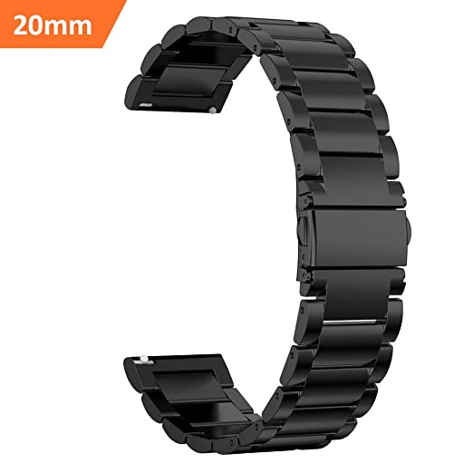 ff10651f407 iBazal 20mm Watch Strap Quick Release Metal Band Steel Strap Compatible  Galaxy Watch 42mm Huawei