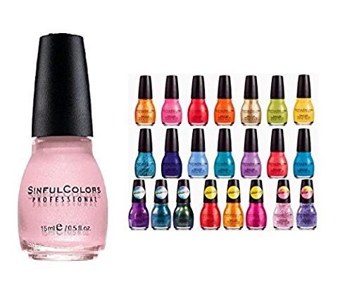 Sinfulcolors Nail Enamel - Lot of 20 Sinful Colors Finger Nail Polish Color Lacquer All Different Colors - Colors Listed below