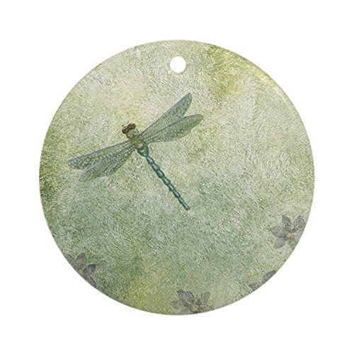 (CafePress Stephanieam Dragonfly Round Holiday Christmas Ornament)