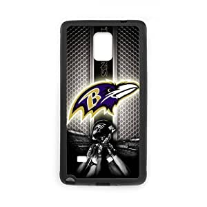 Zyhome Galaxy Note4 HD Picture Baltimore Ravens Team Case Cover for SamSung Galaxy Note4 (Laser Technology)