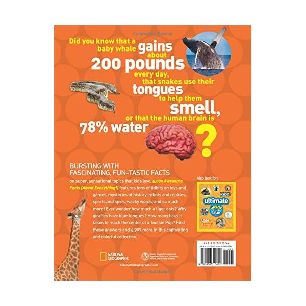 512LcSBDfFL. SS600  - 5,000 Awesome Facts (About Everything!) (National Geographic Kids)
