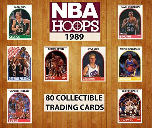 1989 Hoops Basketball NBA Collectible Trading Cards Pack (80 Cards per Pack) - Randomly Inserted All Pro Cards, Michael Jordan, Scottie Pippen, Larry Bird, David Robinson, Magic Johnson and More.