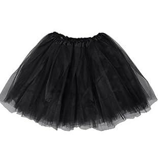 d686549f649b OUKIN Girls 3 Layers Organza Tutu Skirt Ballet Dance Party Dress ...