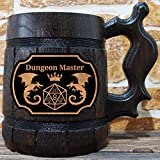 Dungeon Master Beer Mug, Dungeons & Dragons Beer Stein, Gamer Gift, Personalized Beer Stein, DnD Tankard, Custom Gift for Men, Geek Gift