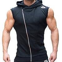 Hombres de la UE Gimnasio de fitness–Sudadera con Capucha sin mangas chaleco Culturismo músculos