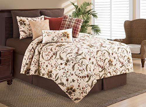 C&F Home Autumn Bloom Floral Jacobean King Reversible Cotton Quilt Set King 3 Piece Set ()