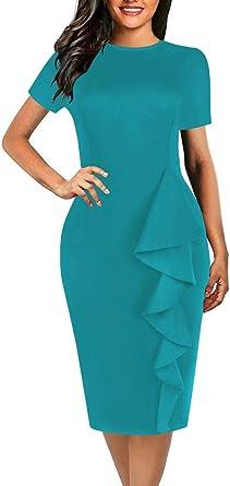 Minetom Lápiz Corbata Fiesta Oficina Vestido para Mujer Elegante ...