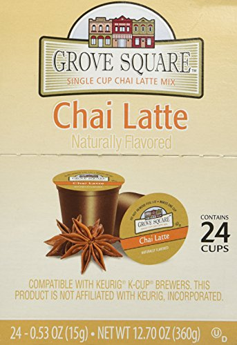 Grove Square Chai Latte, 24-count Single Serve Cup for Keurig K-cup Brewers