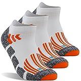 High Performance Running Socks, LANDUNCIAGA Low Cut Compression Running Cycling Climbing Padded Running Socks,3 Pairs