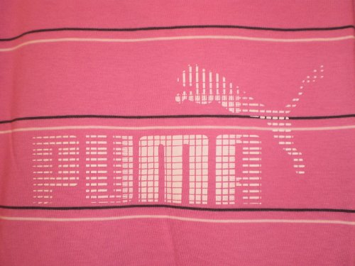"Puma Herren T-Shirt ""Large Logo Tee"" apfelgrün/pink, Größe S #804913 02"