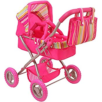 Amazon Com Toddler Girls Baby Doll Canopy Stroller Bed