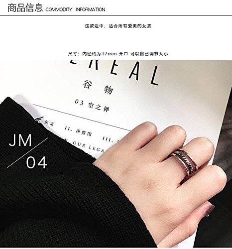 Generic Japan and South Korea Korean women girls lady ring opening ring influx of people in Europe and America Korean students Beautiful tail ring ring finger joints
