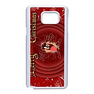Custom Cell Phone Case Samsung Galaxy Note 5 White Case Cover Cartoon Looney Tunes Taz 12QQ4699308