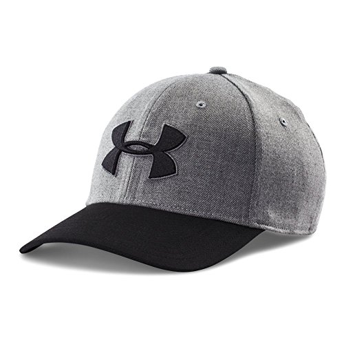 Under Armour Men's Closer 2.0 Cap, True Gray Heather/Graphite, - Cap True Fitted