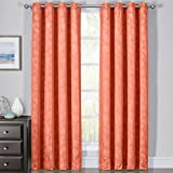 Royal Bedding Fannie Coral Curtains, Top Grommet 100% Blackout, Thermal Insulated Window Curtain Panels, Pair/Set of 2 Panels, 54Wx84L inches Each, by For Sale
