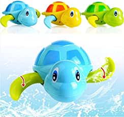 Children Bath Turtle Toys Cartoon Swimming Chain Clockwork Gifts by NEW BORN NEW HOPE