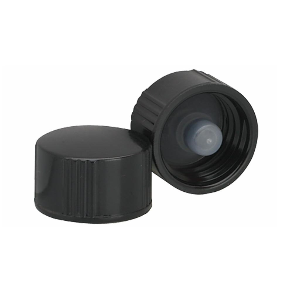 Wheaton 239249 Black Phenolic Screw Cap with PE Poly-Seal Liner, 13-425 Size (Pack of 144)