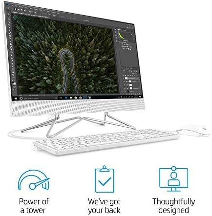HP 24-inch All-in-One Touchscreen Desktop Computer, Intel Core i5-1035G1 processor, 12 GB RAM, 512 GB SSD, Windows 10 Home (24-df0170, White)