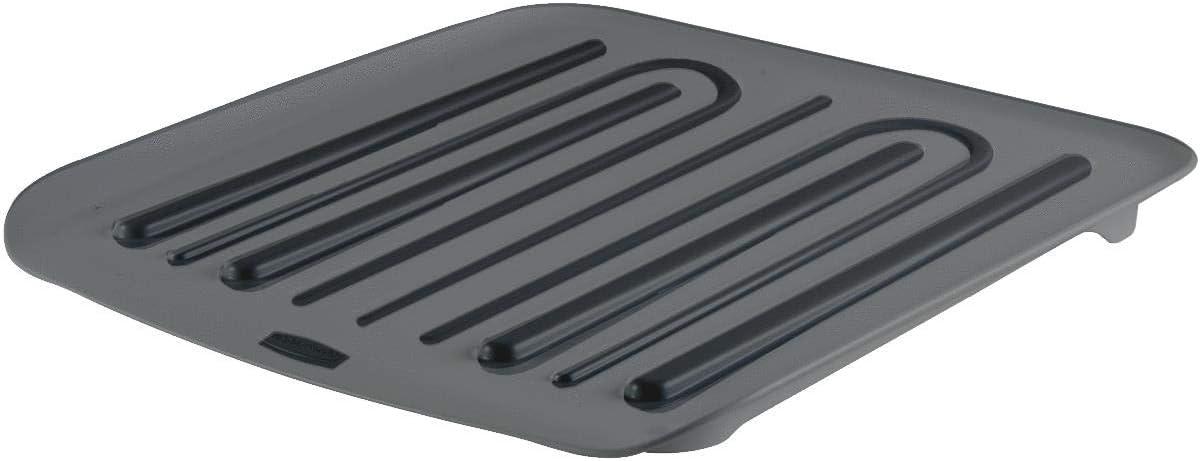 Rubbermaid 1180-MA-BLA Microban Antimicrobial Dish Drain Board, Small, Black