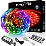 Daybetter 32.8ft 10m Led Strip Lights, Flexible Color Changing 5050 RGB 300 LEDs Light Strips Kit with 44 Keys Ir Remote and 12v Power Supply
