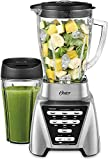 Oster Blender | Pro 1200 with Glass Jar, 24-Ounce Smoothie Cup, Brushed Nickel Limited Edition