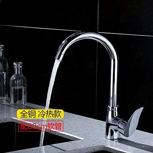 ETERNAL QUALITY Badezimmer Waschbecken Wasserhahn Messing Hahn Waschraum Mischer Mischbatterie Tippen Sie auf Vierkantrohr Wasseranschluß Spüle voll Kupfer kalt-heiß-kalt-wasser Ab