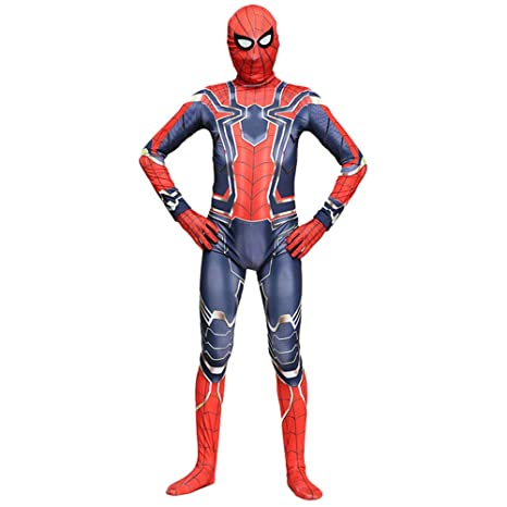 QQWE Traje De Cosplay De Spiderman Body Adulto Niños Marvel ...