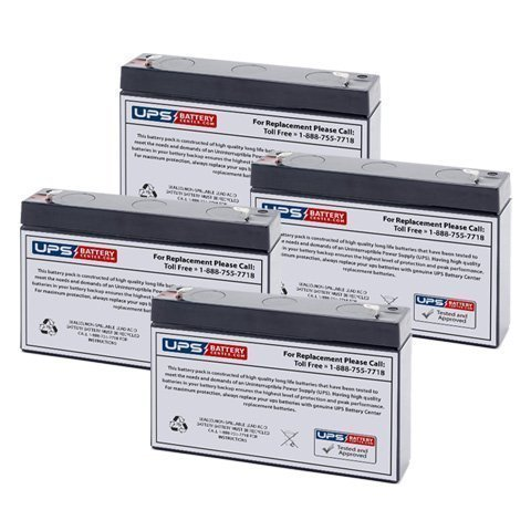 6V 7Ah UPS Replacement Battery for B B Battery BP76 - 4 Pack