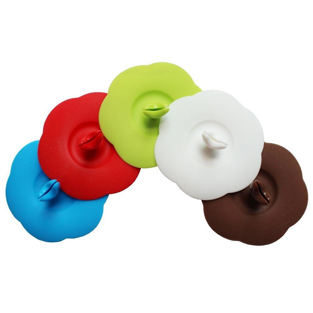 Tapas de silicona para vasos, con diseñ o de flor, 2 unidades. lansue