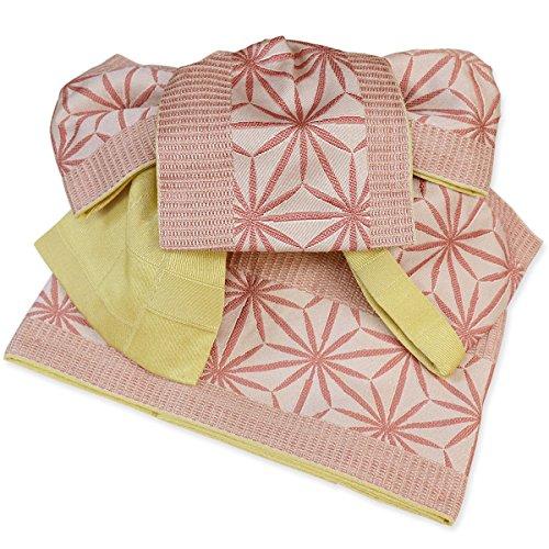 まぶしさセラフ微妙作り帯 浴衣帯 麻の葉 つばめ結び帯 両面小袋半幅帯 粋 ゆかたおび ゆかた帯 結び帯 ワンタッチ帯 レトロモダン