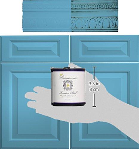 Retique It Chalk Furniture Paint by Renaissance DIY, 16 oz (Pint), 42 Celestial Blue