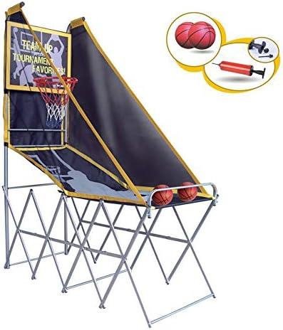 子供用バスケットボールスタンドセット、練習射撃専用、高速射撃バスケットシステム付き子供用屋内スポーツ(2ボール)