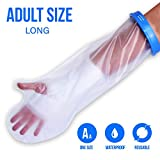 Waterproof Cast Cover For Shower & Bath - Adult Arm. Reusable 100% Sealed Water Protector Keeps Casts & Bandages Dry. Full Watertight Protection, Covers Broken Hands, Wrists, Fingers, Wounds, Burns.