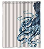 Libaoge Custom Octopus Steampunk Ocean Shower Curtain - Bathroom Decor 66x72Inch