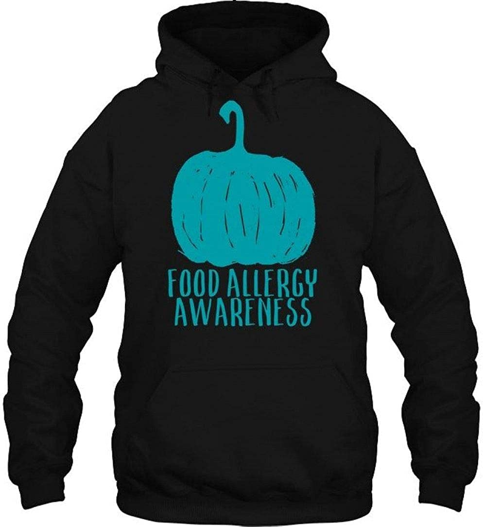 Food Allergy Awareness Tee Black Halloween Teal Pumpkin