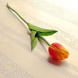 The tulip flower emulation flower arranging living room dining table with floral feel artificial flowers dried flower boutonniere ornaments single support 96