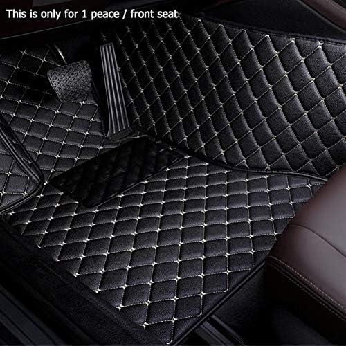 BYOLPMKK-Jiajia Accessories Custom Car Floor Mats for Hummer H2 H3 2007 2008 2006 2009 for Hanteng X7 X5 X7 (Color Name : Black Beige-1 Piece Driver Seat)