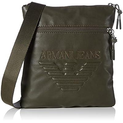 554c1ddbf57 new Armani Exchange Men s Nappa Look Soft Pouch Bag, Green ...