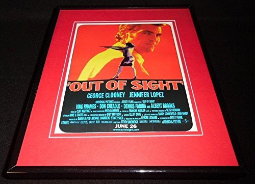 Out of Sight 1998 Framed 11x14 ORIGINAL Vintage Advertisement Jennifer Lopez - Sight Framed