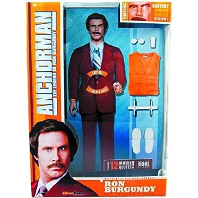Beeline Creative 10016641 Anchorman Ron Burgundy 13 in. Tall Talking Action Figure: Toys & Games